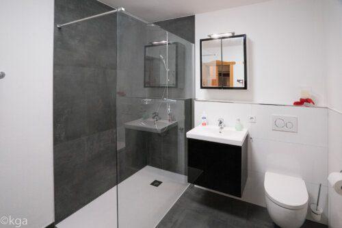 Badezimmer mit großer Regemdusche